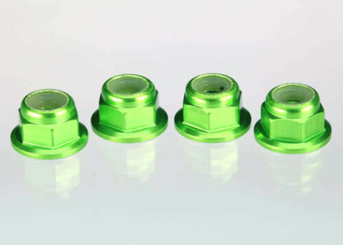 Traxxas TRA1747G 4mm Aluminum Flanged Serrated Nuts 4