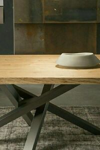 Gambe Allungabili Per Tavoli.Gambe In Ferro A Stella Asimmetriche Incrociate Per Tavoli Finitura A Polvere Ebay