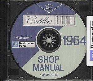 CADILLAC 1964 Shop Manual CD /'64 CD-ROM