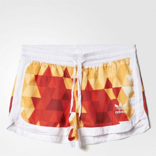 Rojo Retro Mujeres Amarillo a Nuevo Espa Vintage Shorts Espana Adidas Original Blanco a5w688