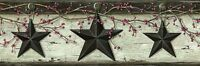 Rustic Barn Stars Wallpaper Borders - 3 Colors Available - Country/western