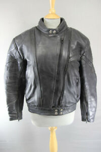 AKITO-RAPIDE-BLACK-LEATHER-BIKER-JACKET-BACK-PROTECTOR-THERMAL-LINING-SIZE-18