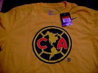 Club America Crest Logo T-shirt Nike - America Playera Amarilla Marca Nike Logo