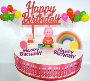 Peachy For Peppa Pig Fans Cake Decoration Set Cake Topper Figure Funny Birthday Cards Online Overcheapnameinfo
