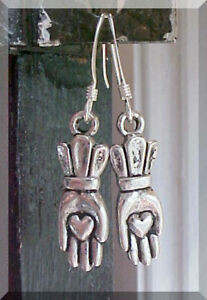 Irish-Claddagh-Earrings-Hand-Heart-Wedding-St-Patricks-Day-Gift-Sterling-Silver
