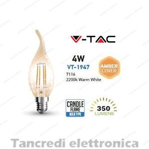 Lampadina-led-V-TAC-4W-35W-E14-VT-1947-fiamma-filamento-lampada-vintage-ambra