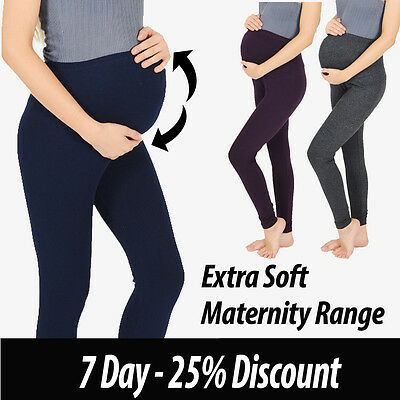 Womens Maternity Soft Cotton Leggings Plus Size 10 12 14 16 18 20 22 24 26 V1 Hohe Sicherheit