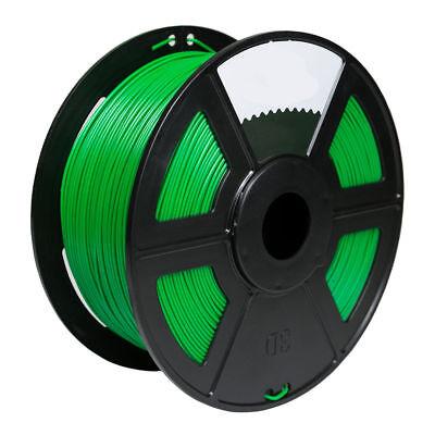 100% Quality 2pk Green Color 3d Printer Filament 1.75mm 1kg Pla For Print Makerbot Reprap