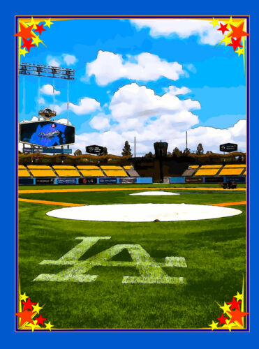 Los Angeles Dodgers California United States Amerca Travel Advertisement Poster