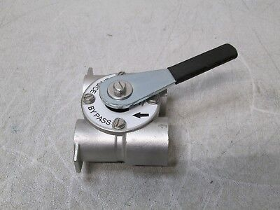 """Water Softener Stainless bypass control valve 1/"""" in and out port for Fleck"""