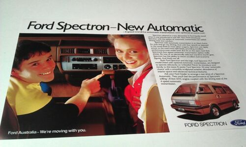 1985  FORD SPECTRON Automatic  VAN  Australian  Sales Leaflet