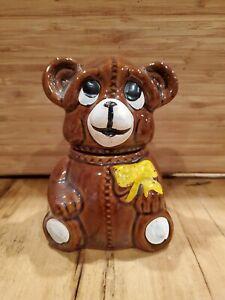 Vintage-1982-Houston-Foods-Small-Bear-Cookie-Jar