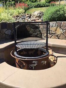 Image Is Loading Fire Pit Barbecue Attachment Santa Maria Style Crank