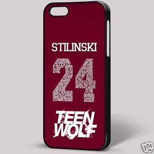 Dettagli Su Stilinski 24 Teen Wolf Iphone Copertura Telefono Caso Sfondo Nero Mostra Il Titolo Originale