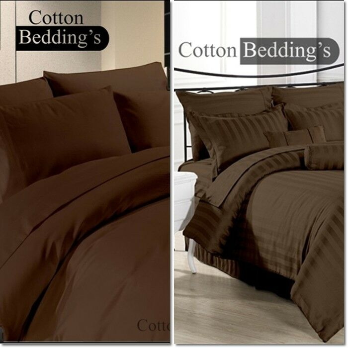LIMITED OFFER FREE SHIPPING 800 TC 3pc Duvet 4pc Sheet Set US Size Brown color