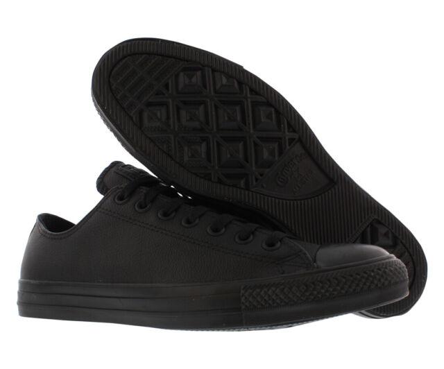 b9691f107dba Converse All Star Chuck Taylor Ox 135253c Black Mono Leather Shoes Men  Blacks 8