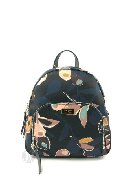 amazing selection latest releases discount sale Kate Spade Nylon Dawn Paper Rose Black Multi Medium Backpack Bag WKRU5997