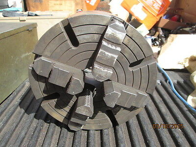 "MACHINIST MILL LATHE TOOL 9 3/4"" 4 Jaw Lathe Chuck Made in Poland"