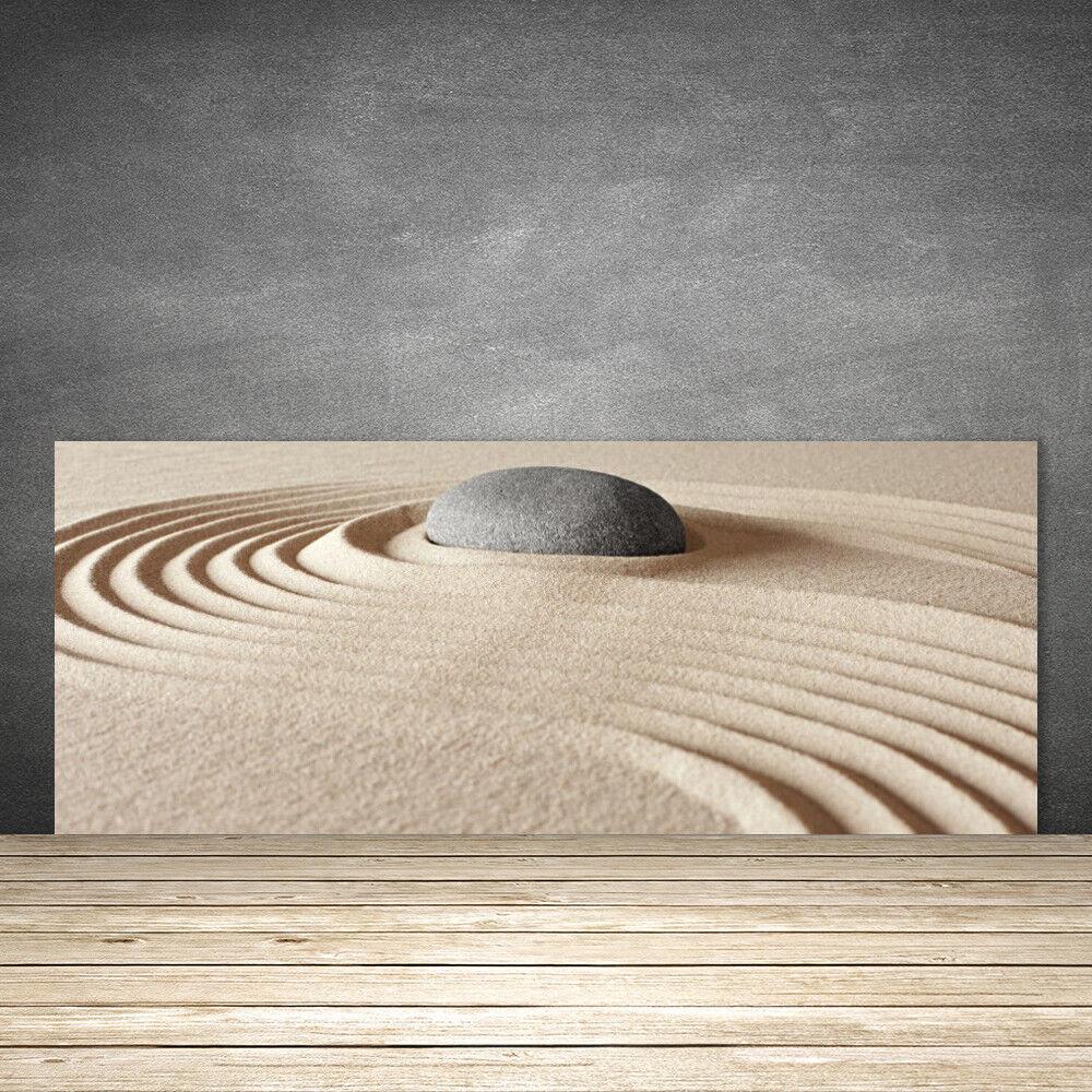 Crédence de cuisine en verre Panneau 125x50 Art Sable Pierre
