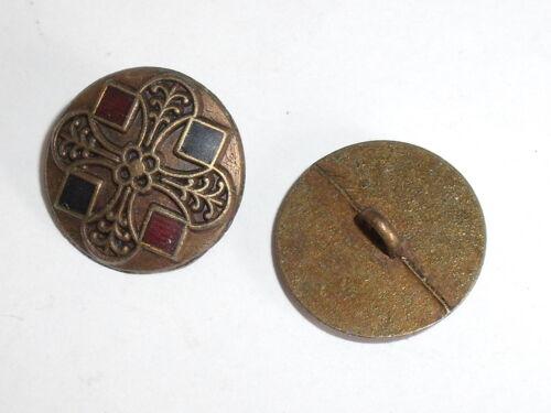 8 Stück Metallknöpfe Knopf Trachtenknopf Ösenknopf  15 mm altmessing NEU 0199.1