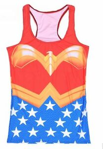 Wonder-Woman-Female-DC-Comics-Cycling-Sports-Swim-Shirt-Tee-Active-Tank-Top