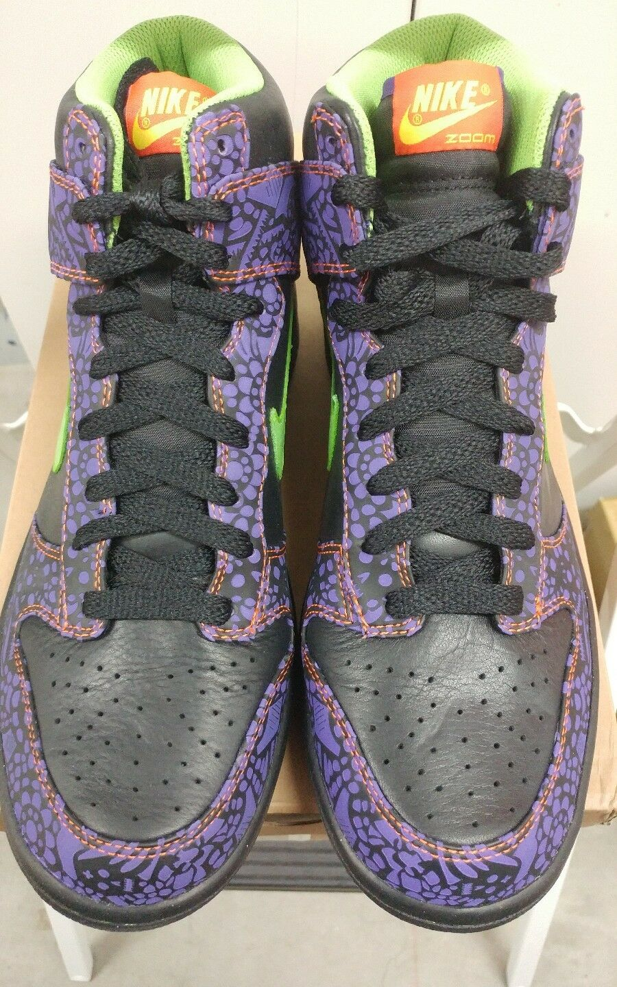 NIB DS Nike Dunk HIGH DAY OF THE DEAD sz 9.5 323955-030 ************