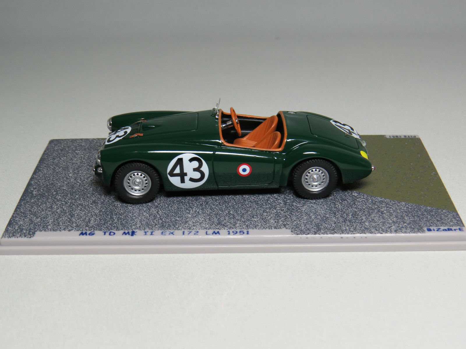 MG Le Mans 1951 retirosso Bizarre BZ376 1 43