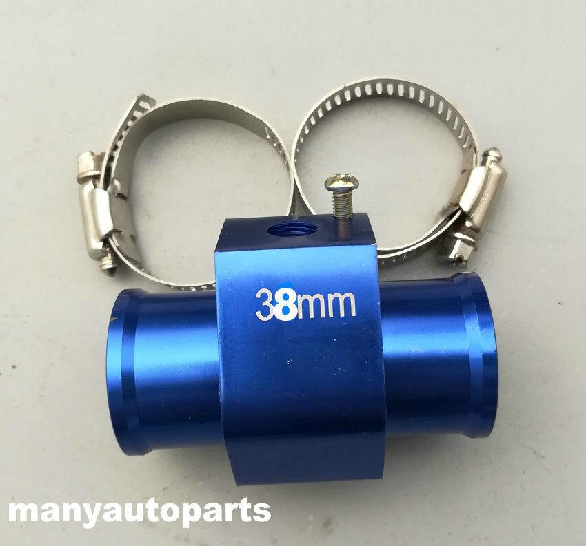 "38MM 1.5/"" Water Temp Gauge Radiator Sensor Adaptor Attachment Aluminum Silver"
