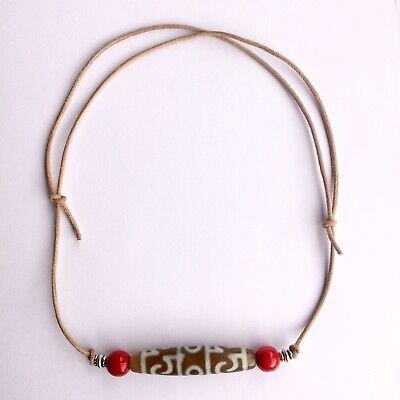 Tibetischer Schmuck, DZI, Sherpa Halskette, Nepal