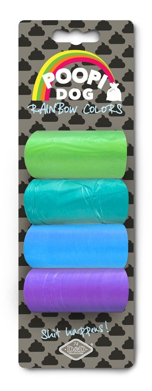 Poo Bags Ebi Rainbow 4 Rolls of 15 Bags Dog Poo Bags Article 349-427842