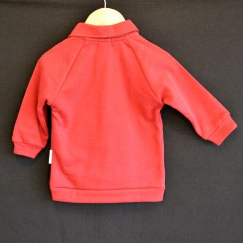 100/% ORGANIC COTTON LONG SLEEVE TOP JUMPER RED BOYS GIRLS s 000 00 0 1 SHIRT