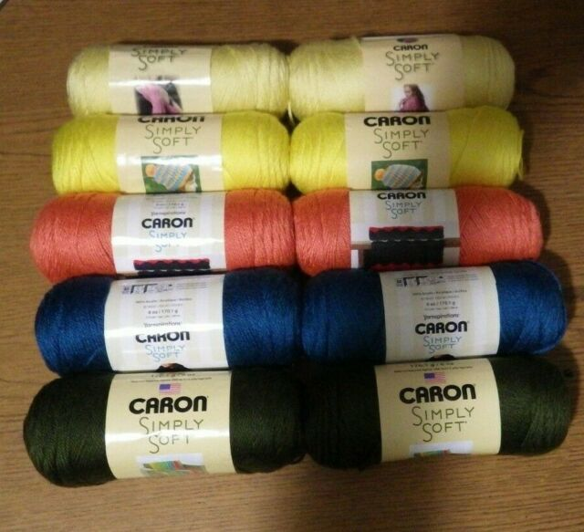 Caron~Simply Soft~Yarn~6 /& 7 oz~100/% Acrylic~#4 Worsted~No Dye Lot~Pick Color