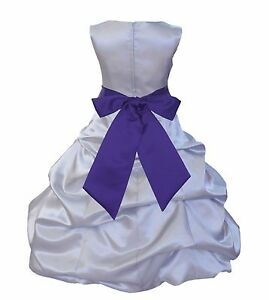 55c3a0985fa Image is loading SHINY-SILVER-FLOWER-GIRL-DRESS-KIDS-CHILDREN-BRIDESMAID-