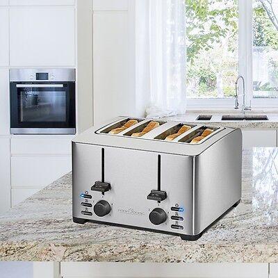 Edelstahl Design 4-Scheiben Toaster Wide Slot extra breit Profi Cook PC-TA 1073