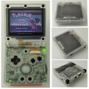 Nintendo-Game-Boy-Advance-GBA-SP-Transparent-Clear-System-AGS-001-MINT-NEW