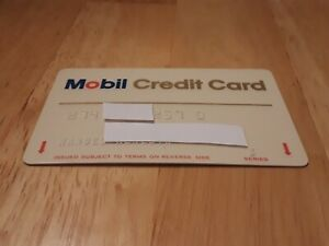 Mobil Gas Card >> Details About Vintage Mobil Credit Card Gas Oil Service Station Gas Station Charge Card Cars
