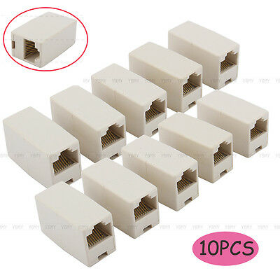 10 PCS Network Ethernet Lan Cable Joiner Coupler Plug Connector RJ45 CAT 5 5E