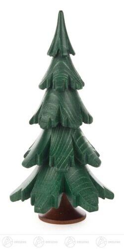 Baum grün lasiert Höhe = 12,5cm NEU Erzgebirge Holzbaum Dekobaum
