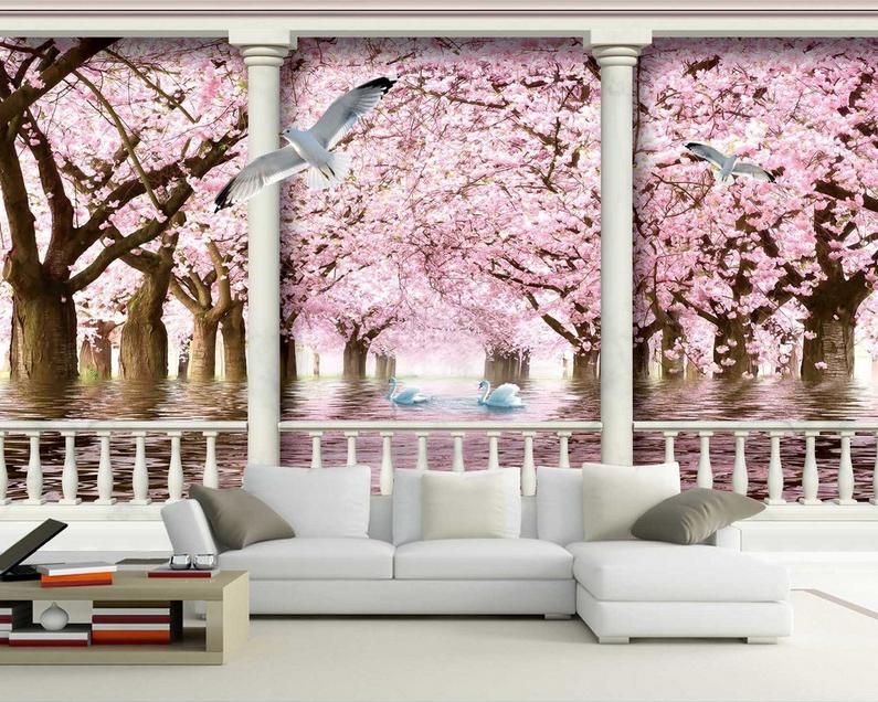 3D Vogel Rosa Wald 864 Tapete Wandgemälde Tapete Tapeten Bild Familie DE Summer | Erlesene Materialien  | Niedrige Kosten  | Ausgezeichneter Wert