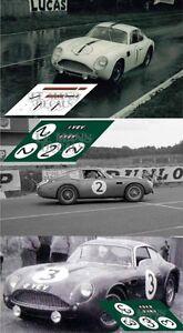 Calcas Aston Martin Db4 Gt Zagato Le Mans 1961 1 2 3 1:32 1:24 1:43 1:18 Decals