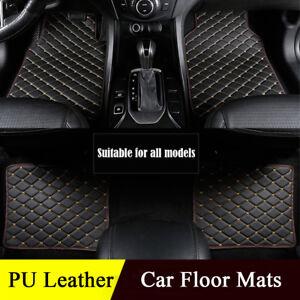 Luxury-PU-leather-Car-Floor-Mats-Universal-Auto-Carpet-Mat-Protect-Waterproof