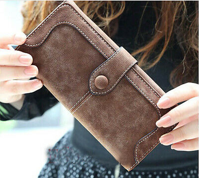 Retro Ladies Womens Wallets Long card holder iPhone Purses Big Wallet Handbag