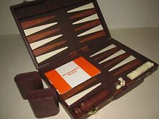 "Portable Backgammon Set - Small Case Style 15"" X 10"" X 2 1/2""  Brown"