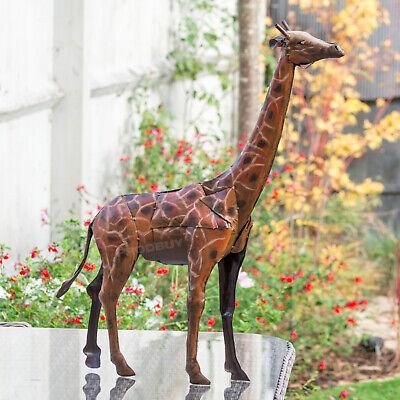 Large 76cm Giraffe Decorative Garden Ornament Art Statue ...