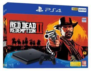 Console-Sony-PS4-500GB-e-Red-Dead-Redemption-2-Fascio-Sigillato-Nuovo-di-zecca-e