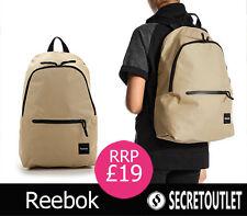 Reebok New Khaki Unisex Backpack Rucksack School Bag Gym/Travel Bag