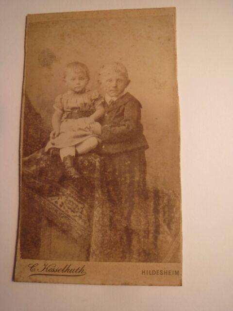 Hildesheim - 2 piccole Bambini-Elisabeth e Adolf-Portrait/CDV