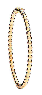 Besorgt Bangle Yellow Gold Ladies Ball Design Hinged Bracelet Einfach Und Leicht Zu Handhaben