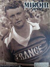 ATHLETISME FRANCE FINLANDE JAVELOT TISSOT BOXE TONY ZALE N 19 MIROIR SPRINT 1946