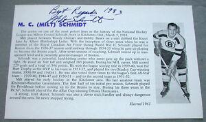 Original-NHL-Boston-Bruins-HHOF-Milt-Schmidt-Signed-Sheet